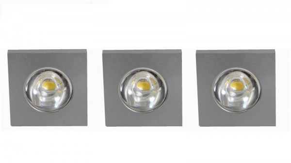 LED Einbauleuchten Set 3x 1 Watt Deckenspot Eco-Light Caen 8002