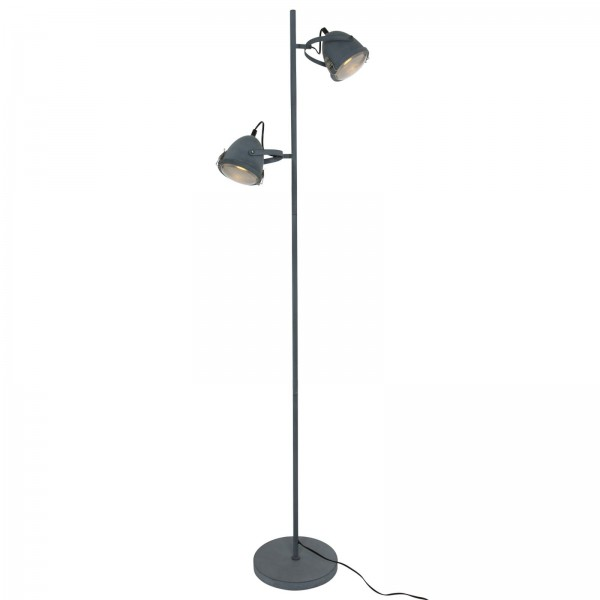 Stehleuchte Peters-Living 3765160 Grau Industrie Standlampe E27