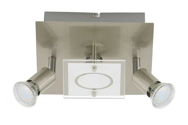 LED Deckenleuchte Briloner Start 3497-032 Wohnraumlampe Nickel matt