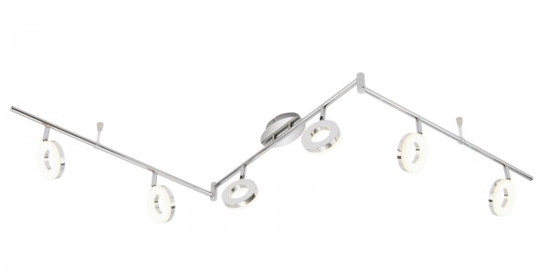 LED Deckenleuchte 6er Spot Peters-Living 3519671 Spotstrahler Chrom