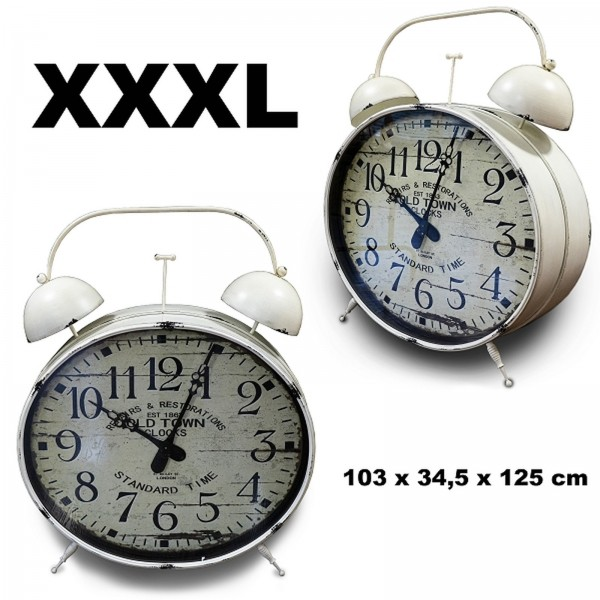 XXXL Standuhr Old Town Steampunk Noor Living 267923 Retro Wecker-Look